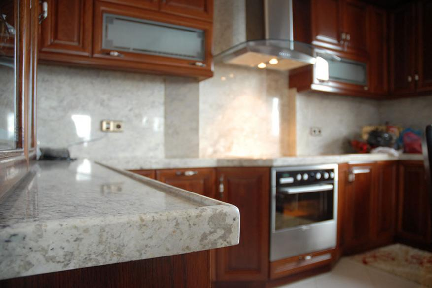 1051 Πάγκος Κουζίνας με Φυσικό γρανίτη